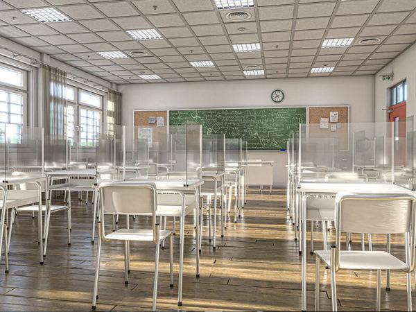 Plexiglass or Polycarbonate Clear Student Desk Dividers